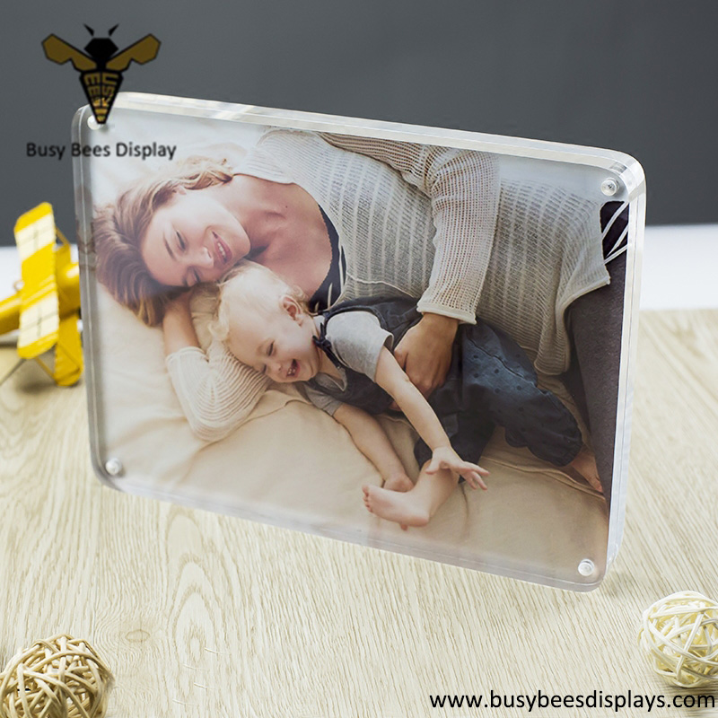 clear acrylic magnetic photo or placard holder frame