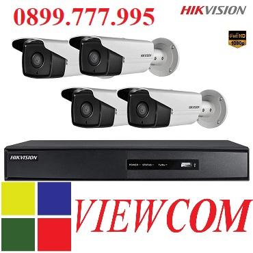 Trọn bộ 4 camera quan sát độ phân giải HD 2.0Mp