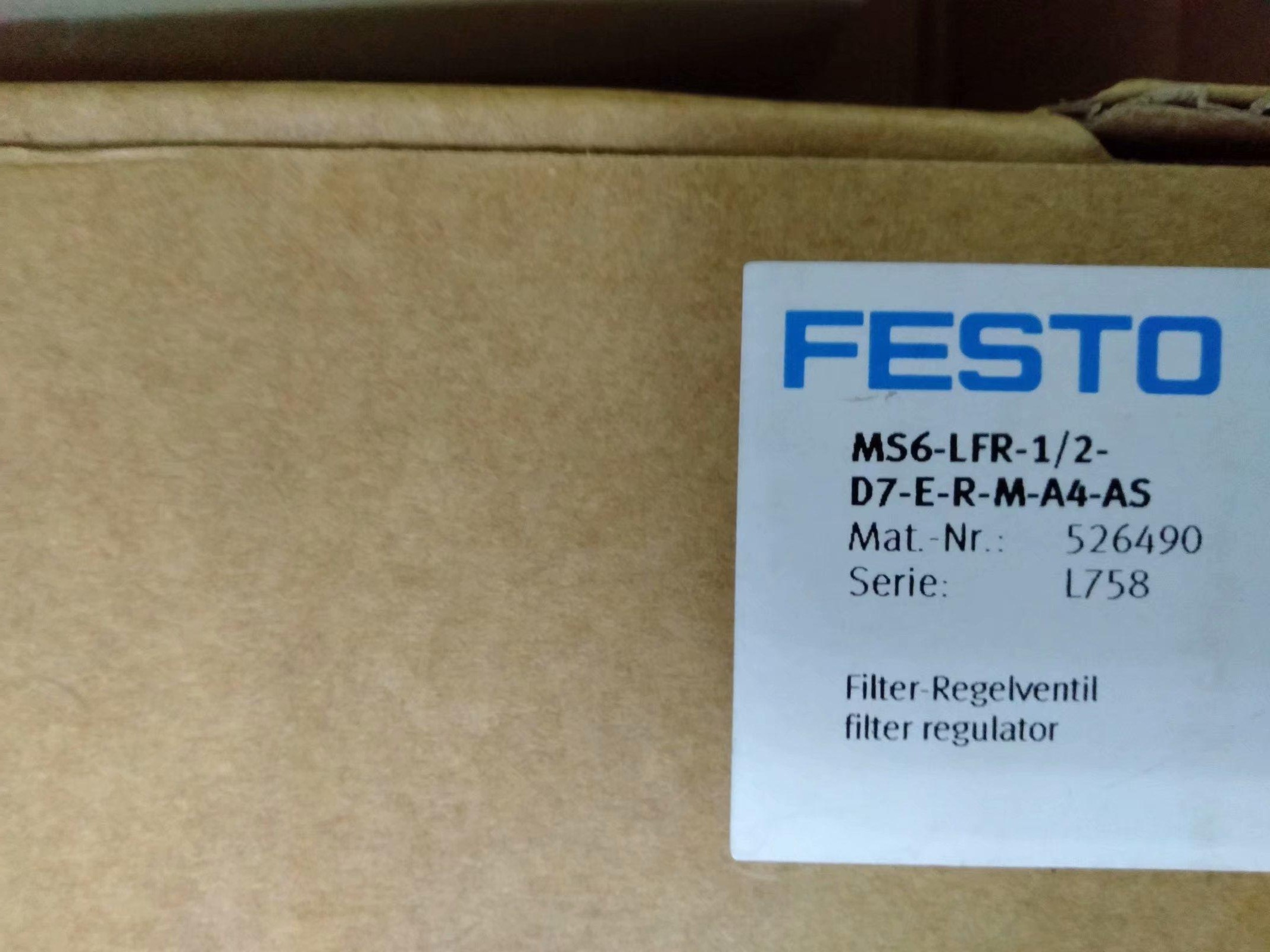 FESTO MS6-LFR-1/2-D7-E-R-M-A4-AS