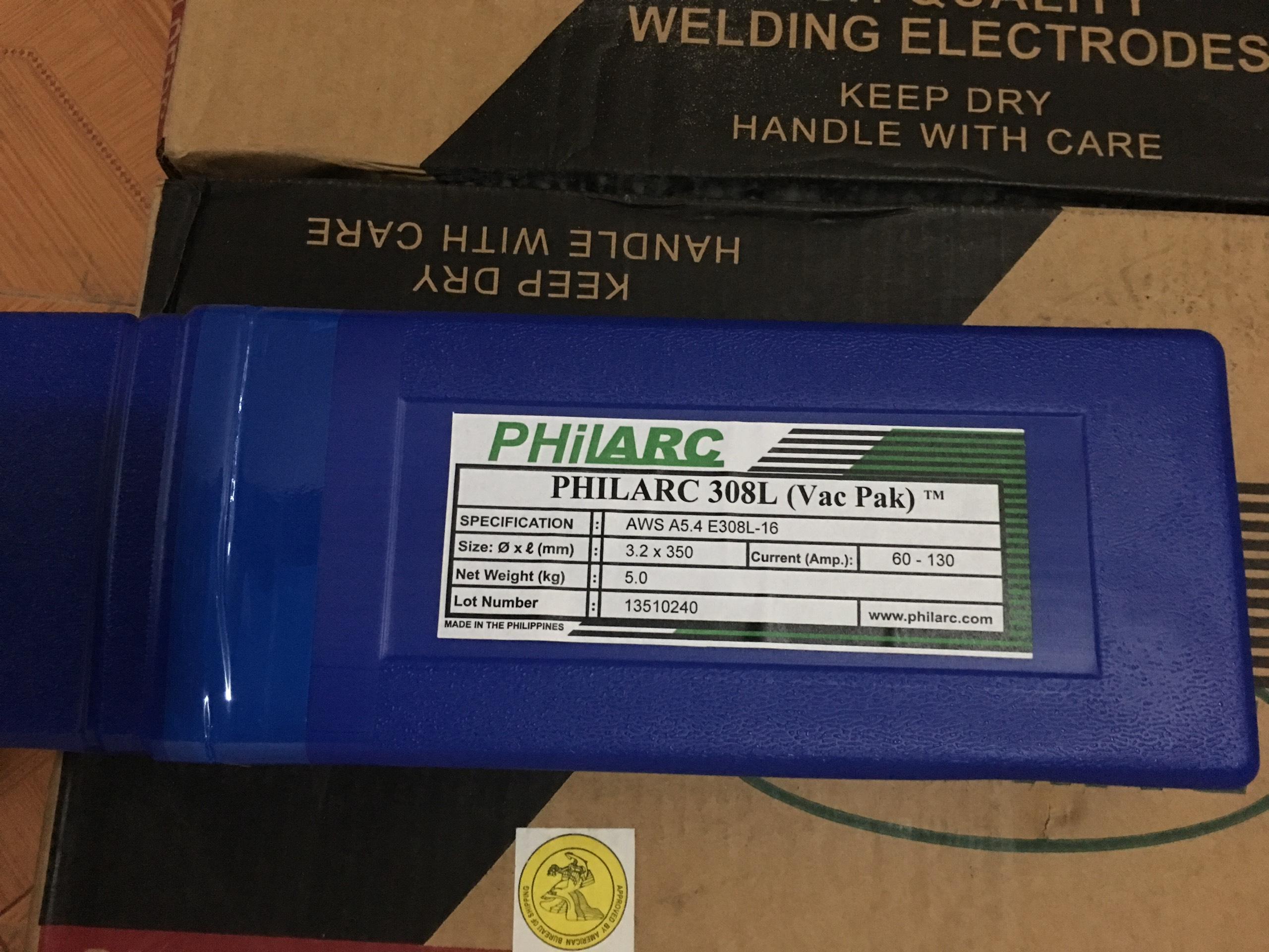 Que hàn inox nhập khẩu chất lượng Philarc 308L