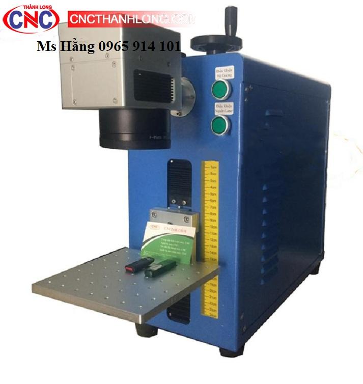 Máy laser fiber mini khắc kim loại, Máy laser fiber mini khắc logo nhãn mác.