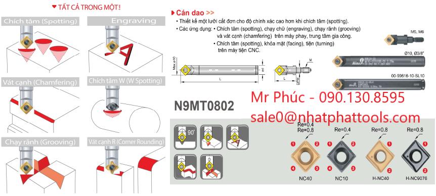 mũi khoan tâm gắn mảnh carbide, NC Spot drill (Nine9)....CTY TNHH KT Nhật Phát...L/H:0901308595