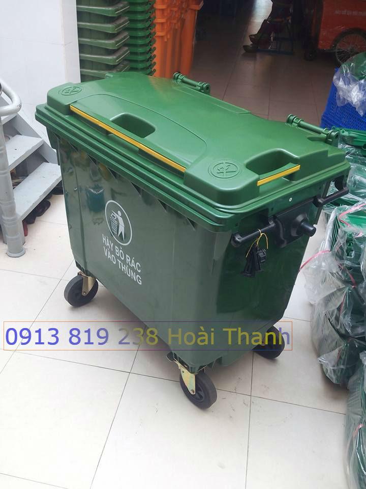 Bán xe đẩy rác thải nguy hại y tế dung tích 660 lit