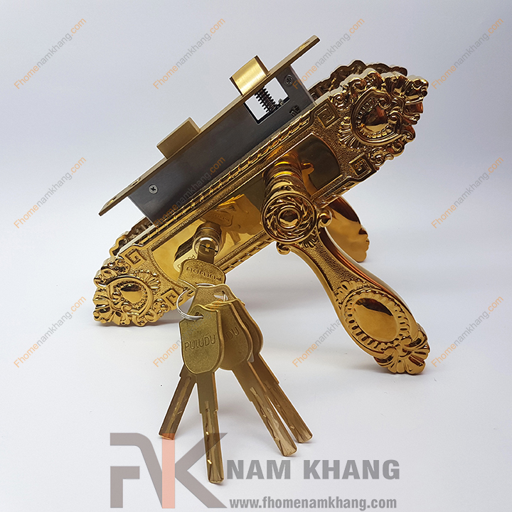 Khóa cửa gỗ thông phòng NK190M-PVD