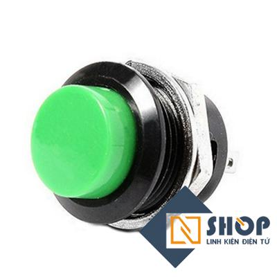 Nút nhấn nhả 16mm màu xanh