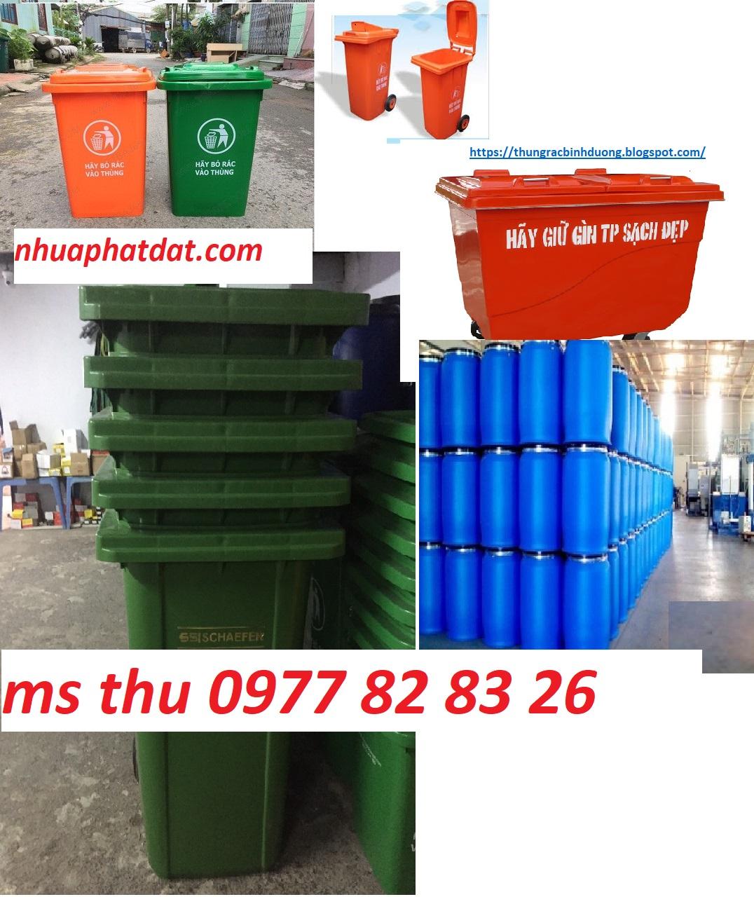bán các loại thùng rác, thùng rác 60l, 120l, 240l, 660l, thùng phuy