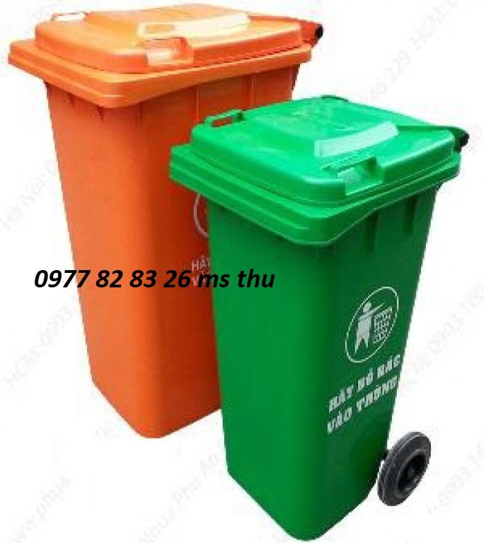 thùng rác nhựa 120l, thùng rác giá rẻ tại Bình Dương