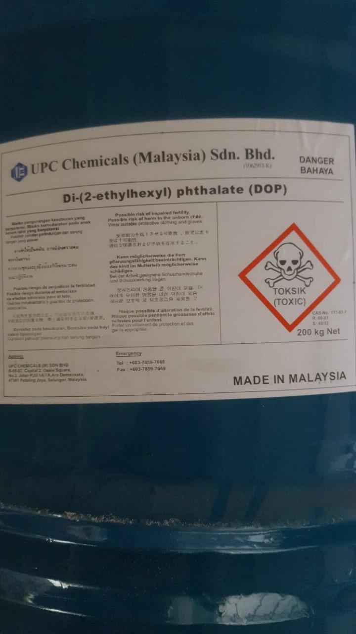 Product Name: Di-2-ethylhexyl Phthalate (DOP) Tên sản phẩm: Dầu hóa dẻo DOP