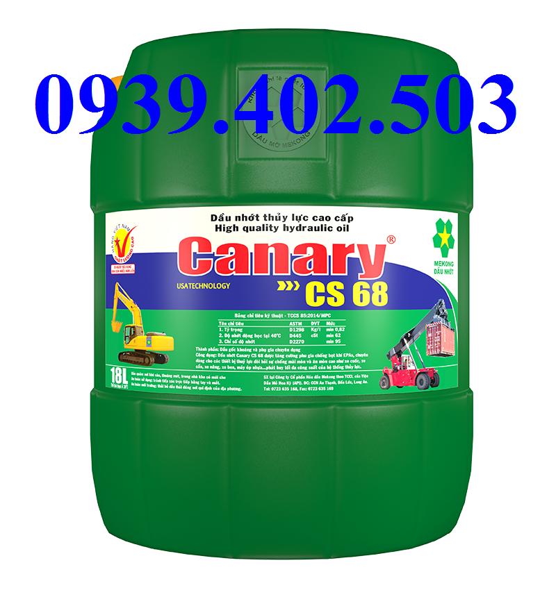 DẦU THỦY LỰC MEKONG  CANARY CS 68 18 LÍT / 200 LÍT