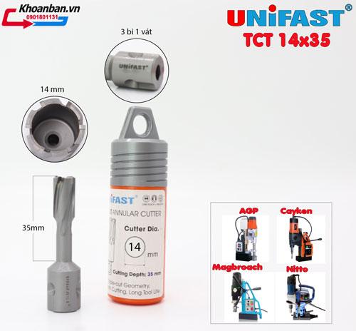 Mũi khoan từ hợp kim Unifast 14x35