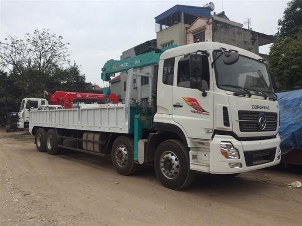 Nên mua xe tải 4 chân Dongfeng gắn cẩu 5 tấn ở đâu