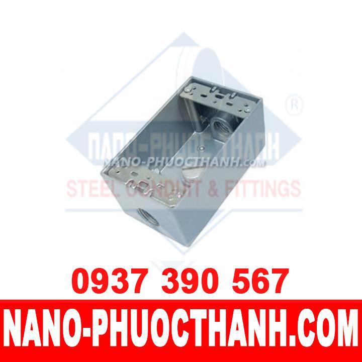 Hộp công tắc đơn nổi ống thép luồn dây điện IMC - NANO PHƯỚC THÀNH