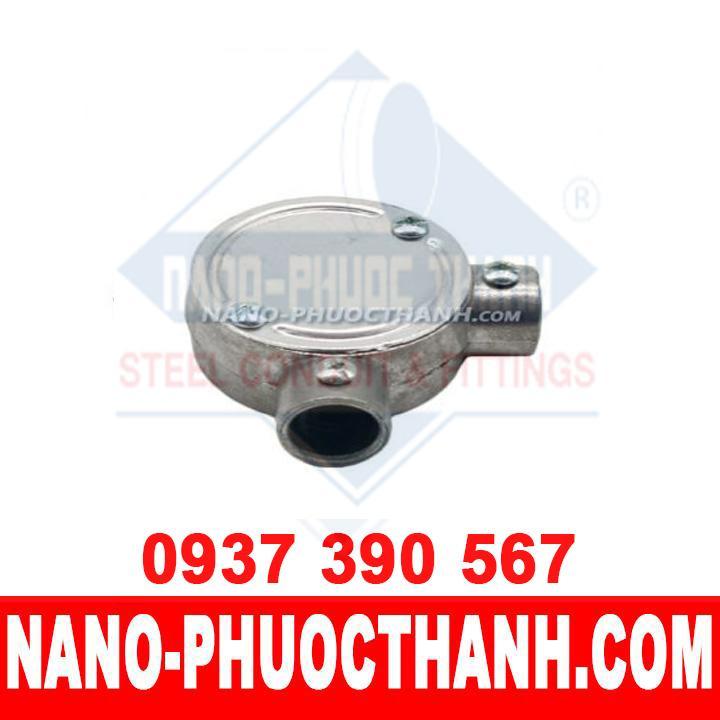 Hộp nối ống thép luồn dây điện trơn EMT 2 ngã vuông – NANO PHƯỚC THÀNH