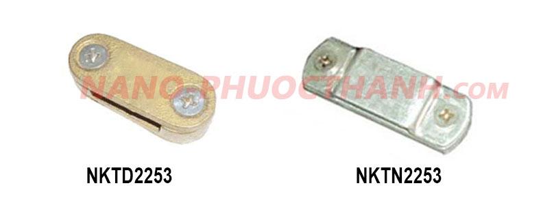 Kẹp thanh đồng /thanh nhôm 2 ngã cho hệ thống chống sét - cọc tiếp địa - NANO PHƯỚC THÀNH