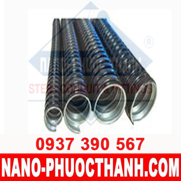 Ống ruột gà lõi thép bọc nhựa PVC -  đầu nối ống ruột gà lõi thép - NANO PHƯỚC THÀNH