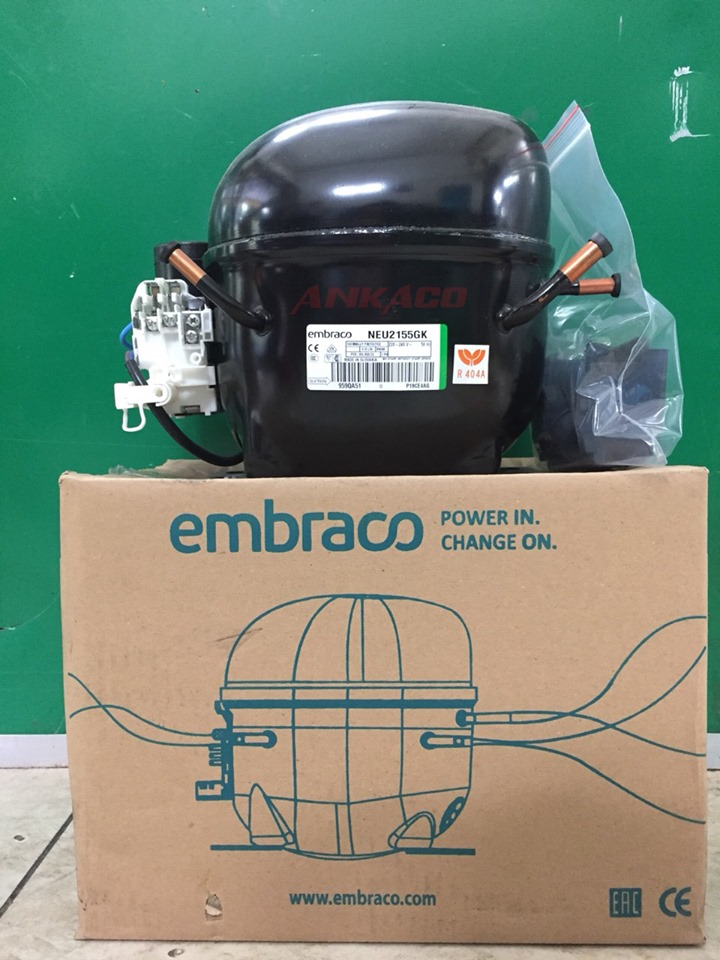 Cung cấp block tủ lạnh Embraco 3/4hp Model NEU2155GK với giá cực hot
