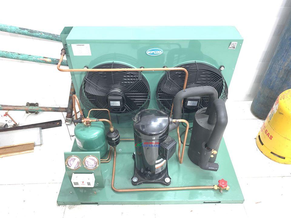 Chuyên lên cụm máy nén dàn ngưng 13 hp ZR160KC TFD 550 tại TP.HCM