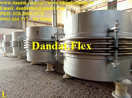 Khớp co giãn Model: ES-100 (Ống bellows 1 ly x 2 lớp inox 316, lót 6 ly sắt, 4 pasty M30 sắt) DN1.020(40