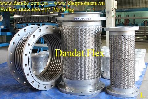 Ống mềm chống rung kết nối mặt bích (thép, inox)