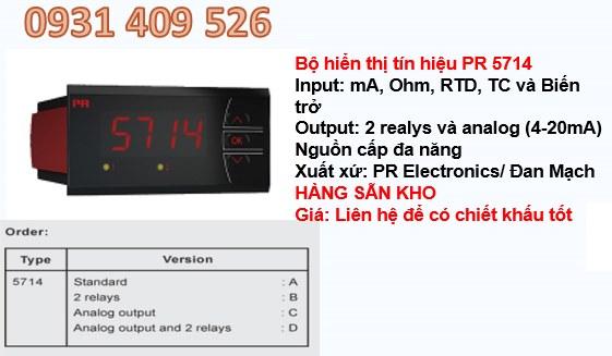 màn hình hiển thị PR 5714