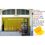 Màn nhựa pvc màu vàng, rèm nhựa chống côn trùng, mành rèm cửa kho