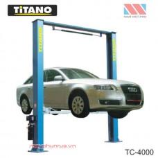 Cầu nâng ô tô 2 trụ giằng trên Titano 4 tấn - TC4000