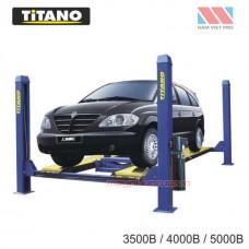 Cầu nâng ô tô 4 trụ 5 tấn, lắp đĩa cân chỉnh bánh xe - 3500B