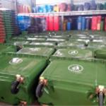 thùng rác composote 660l-1000L, xe thu gom rác