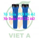 cốc lọc nhựa xanh, cốc lọc nước 20 inch xanh