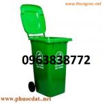 Thùng rác 120L nhập khẩu, thùng rác 120L nhựa HDPE
