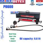 Bộ bơm tay thủy lực Bega Betex PB600 (600cm3, thép)