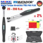 Cờ lê lực điện tử - Dải đo 20 - 200 N.m - 1/2 inch PRO