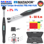 Cờ lê lực điện tử - Dải đo 5 - 50 N.m - 1/4 inch - PRO PLUS