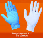 G10 Flex Blue/ White Nitrile Gloves