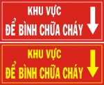 Bảng hướng dẫn nơi để bình chữa cháy