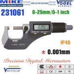 Panme điện tử 0-25mm, IP40