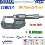 Panme điện tử 50-75 mm, IP54, drum inch