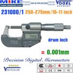 Panme điện tử 250-275 mm, IP54, drum inch