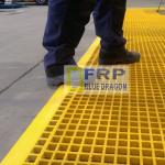 Sàn lưới nhựa composite,  chống cháy, nước biển, axit các loại