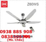 Quạt trần KDK Z60WS, cánh sợi thủy tinh PPG