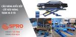 Cầu nâng kiểu xếp - cắt kéo nâng toàn xe sửa chữa xe ô tô