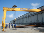 Ung dụng cầu trục tự hành trong xây dựng