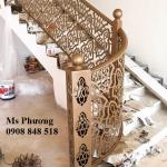 Cầu thang sắt cắt CNC hoạ tiết tinh tế