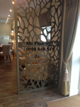 Vách ngăn CNC nghệ thuật trang trí nhà, quán caffe