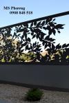 Hàng rào sắt cắt CNC tinh tế, độc đáo