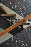Cầu thang cắt CNC nghệ thuật, sơn tĩnh điện