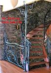 Cầu thang cắt CNC nghệ thuật, sơn tĩnh điện bền, đẹp